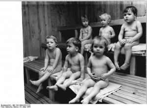 Dzieci w saunie